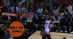 Best 100 Dunks: 2015 NBA Season (Video)