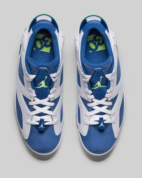 Air Jordan 6 Low Seahawks - Trillmatic.com 4