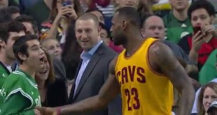 LeBron James Congratulates Special Olympian at Celtics Game (Video)