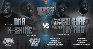 Rap Battle: Tsu Surf & Tay Roc VS K Shine & DNA (Rematch)