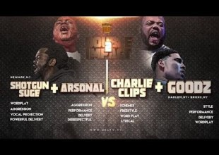 Charlie Clips + Goodz vs Arsonal + Shotgun Suge Smack/URL (Rap Battle)