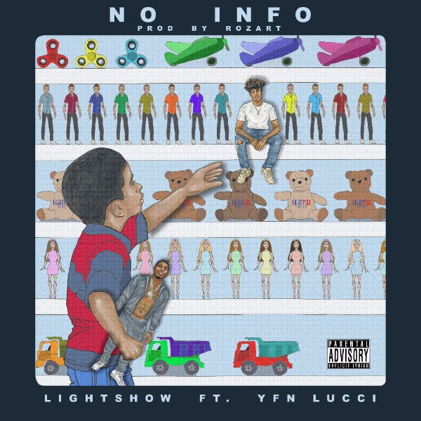Lightshow featuring YFN Lucci - No Info (Audio)