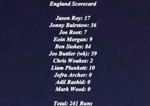 England Scorecard Cricket World Cup 2019 Winner