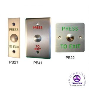 Stainless steel LED exit button
