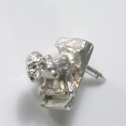 Anstecker Wasserspeier 925 Silber  TRIMETALL