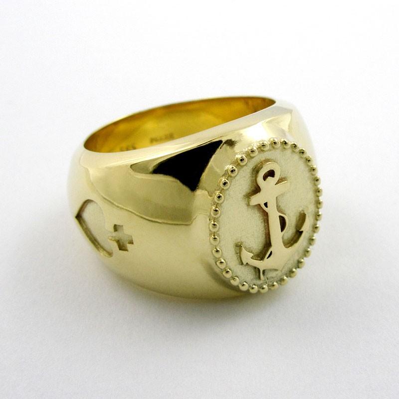Ring Sailor Boy 585 Gold  TRIMETALL Schmuckdesign