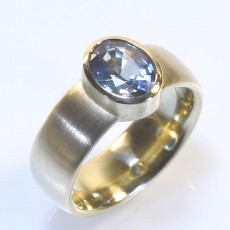 Ring 750 Gold Saphir  TRIMETALL Schmuckdesign