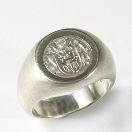 Siegelring 925 Silber Palladium Gravur  TRIMETALL SchmuckdesignTrauringe Kln