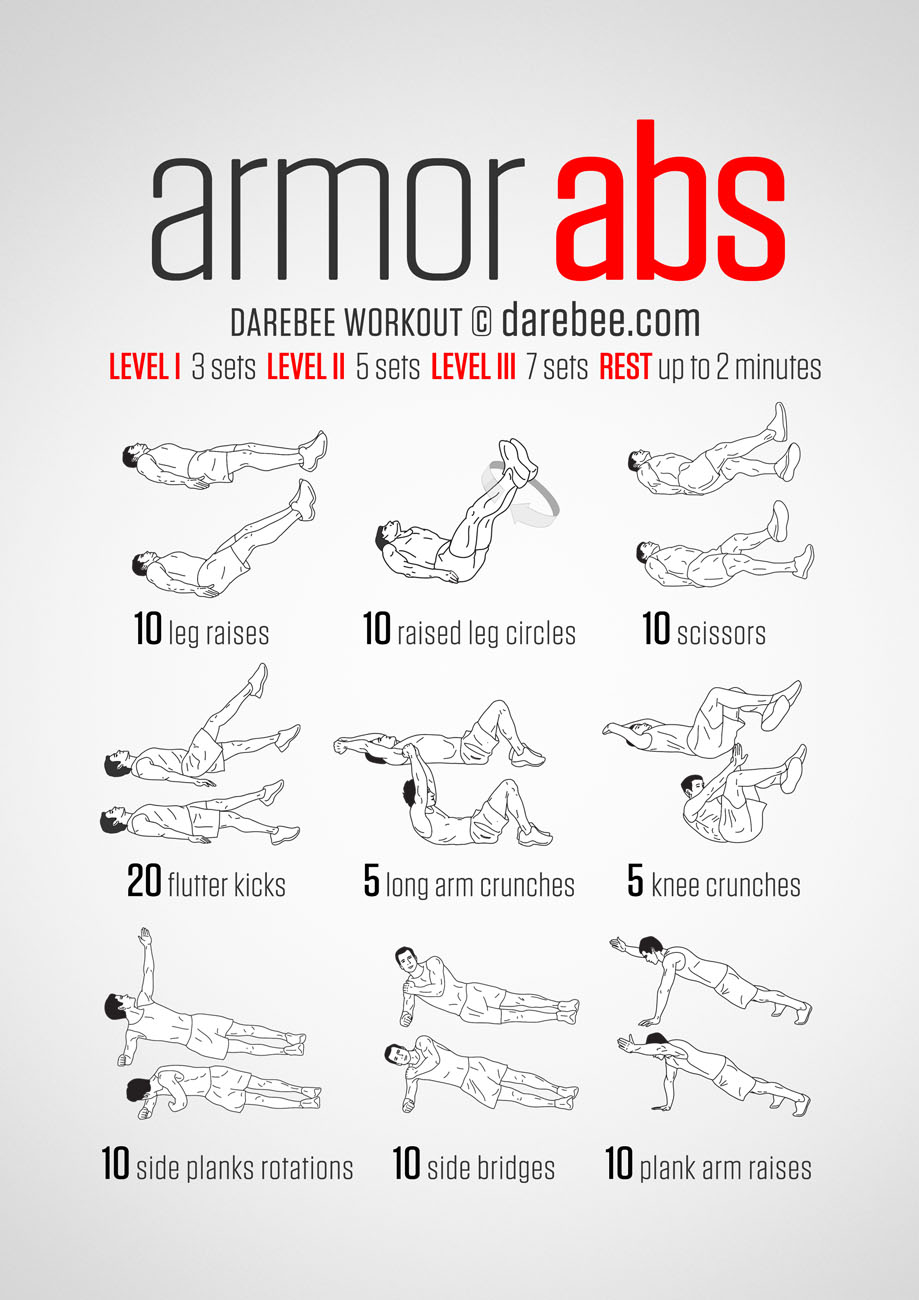 hight resolution of armor abs workout