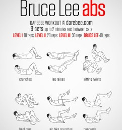 bruce lee abs workout [ 919 x 1300 Pixel ]