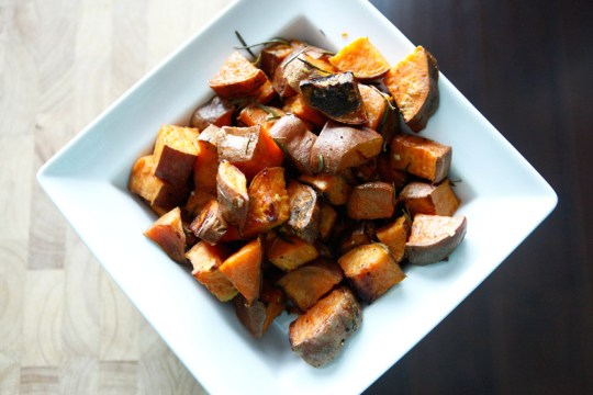 7. Roasted Rosemary Sweet Potatoes