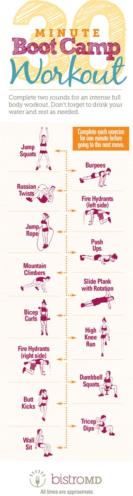 medium resolution of 30 minute boot camp workout