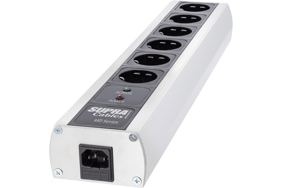 SUPRA MD06-EU/SP Mk3.1 je 6-zásuvkový sieťový blok