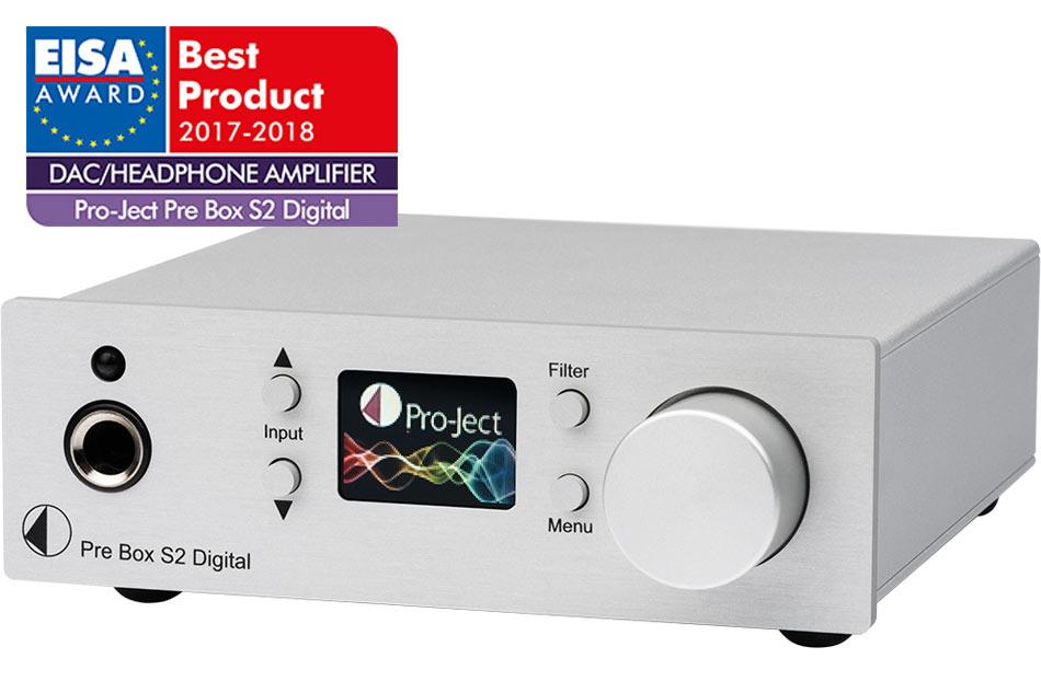 Pro-Ject Pre Box S2 Digital - mini predzosilňovač - D/A prevodník a slúchadlový zosilňovač