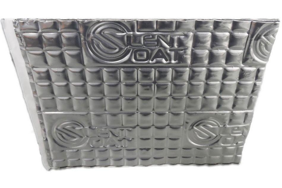 Silent Coat M2 - samolepiaci tlmiaci materiál na báze polyméru zhutňovaného lepidlom a s hliníkovou vrstvou