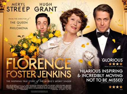 Florence Foster Jenkins – Friday 28th April