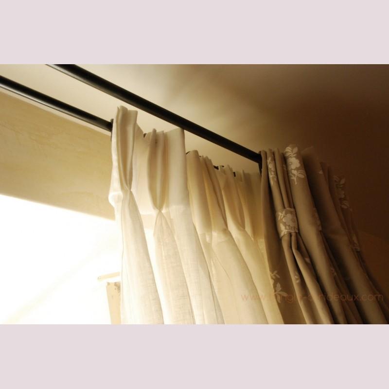 tringle a rideaux provencale double sur