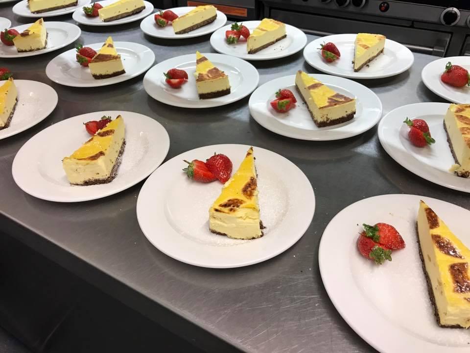 Crème Brûlée and Coconut Cheesecake ready for Service!