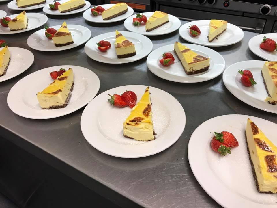Crème Brûlée and Coconut Cheesecake ready for Service!