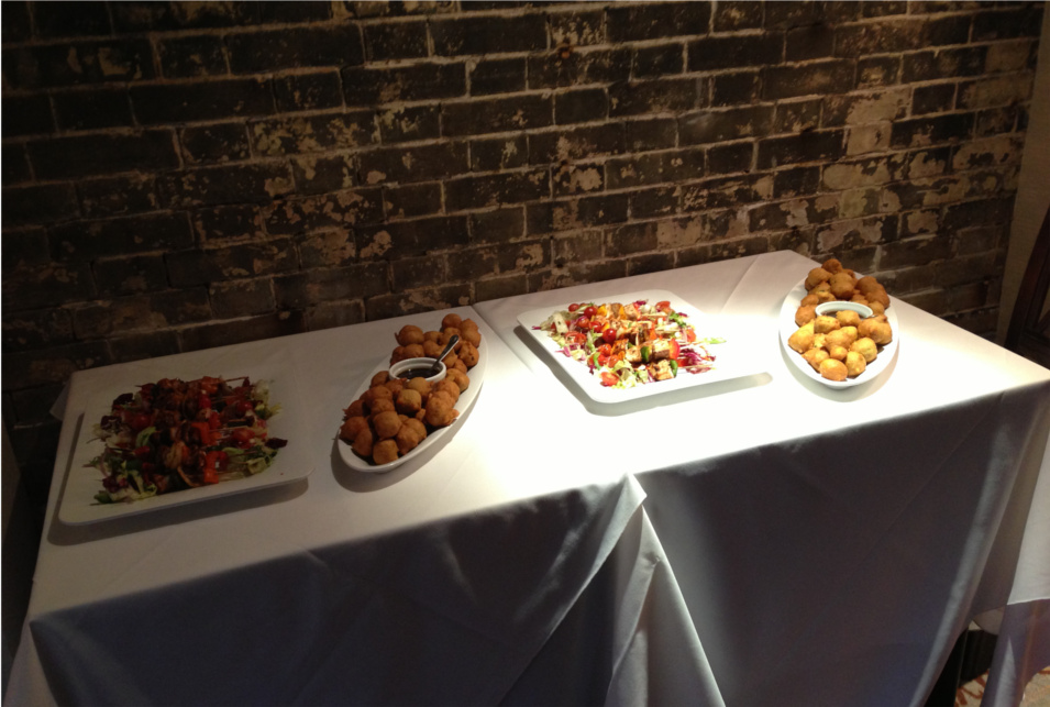 Starters for a Wedding Reception