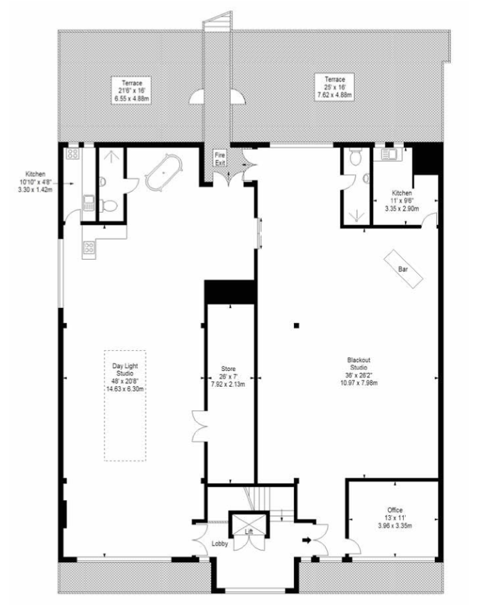4th Floor Studios Floorplan