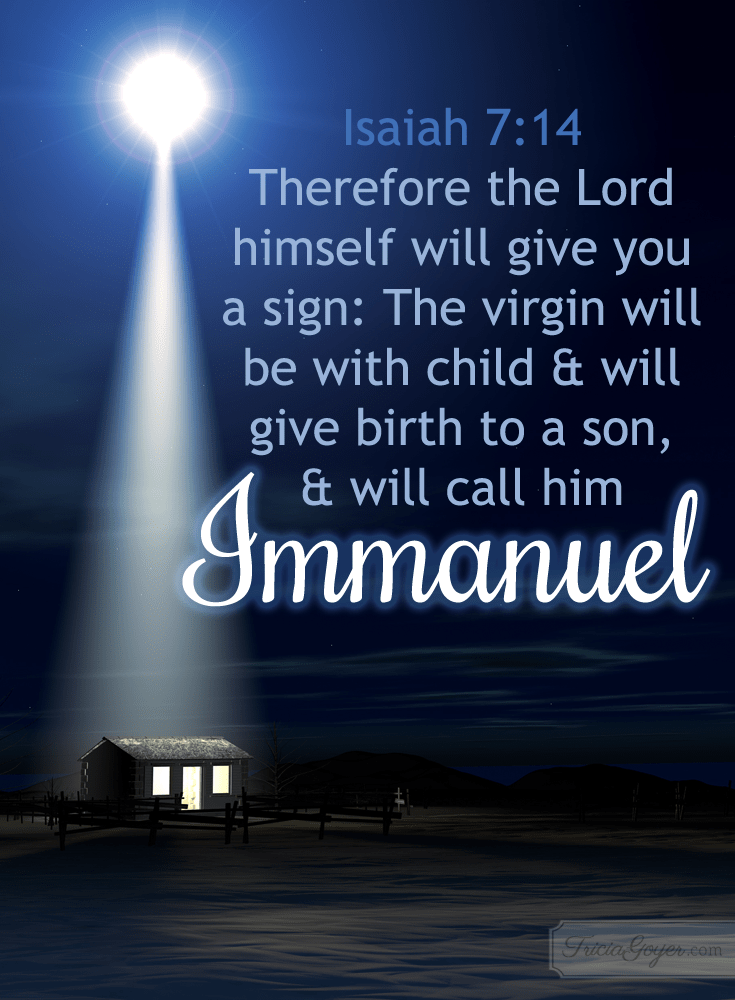 – The Lord will give you as sign