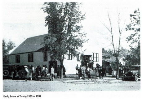 Early Scene at the Church around 1933 or 1943