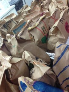 Meals are bagged and ready ...