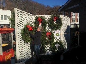 Christmas wreaths decorated by the youth group for sale ...