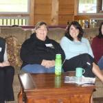 Relaxing at the Women's Retreat
