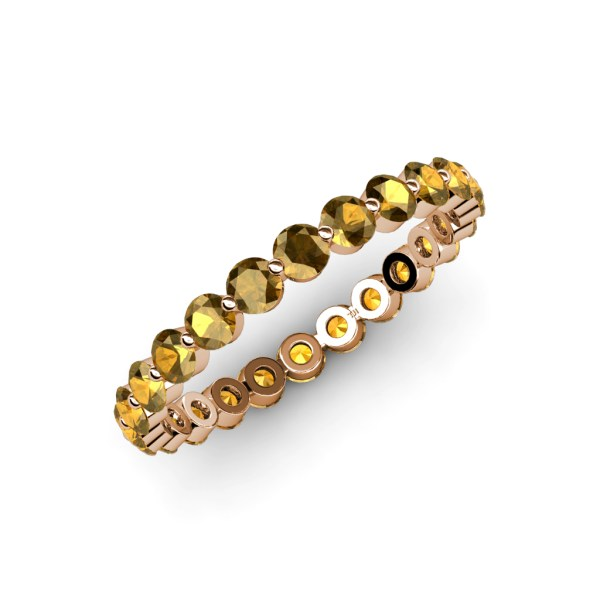 Floating Citrine Eternity Band 1.60 Ct Tw-1.90 Tw In