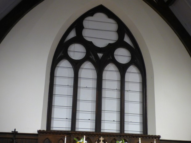 Missing altar window