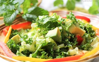 Kale & Avocado Rainbow Salad with Mint Infused Dressing by Trinity