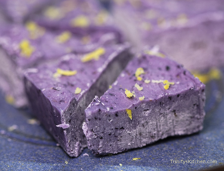 Blueberry & Lemon Fudge by Trinity - dairy-free with creamed coconut