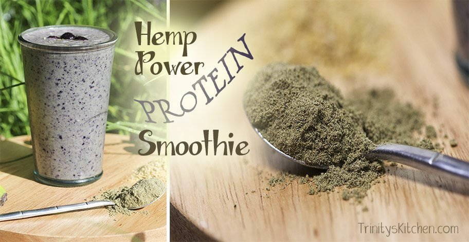 Hemp protein power smoothie by Trinity Bourne