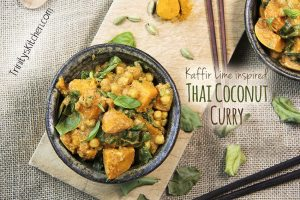 Thai coconut curry by Trinity Bourne