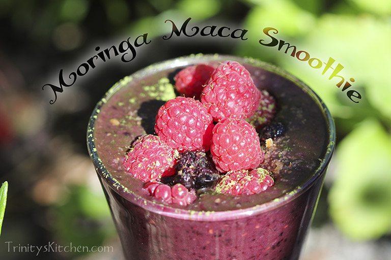 Moringa maca smoothie by Trinity Bourne