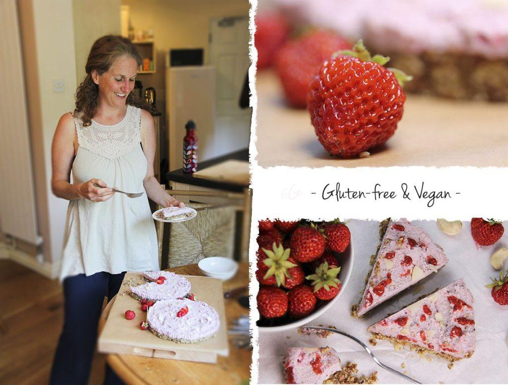 Strawberry cheezecake with Trinity Bourne