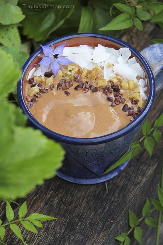 Raw Cacao Smoothie by Trinity Bourne