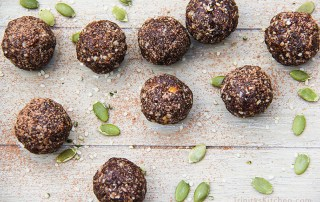 Super Seed Energy Balls with hemp, flax, pumpkin and sunflower seeds by Trinity Bourne - gluten-free, vegan recipe