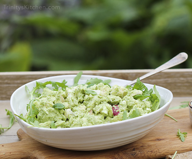 Cashew lime pesto with cauliflower salad by Trinity #dairyfree #vegan