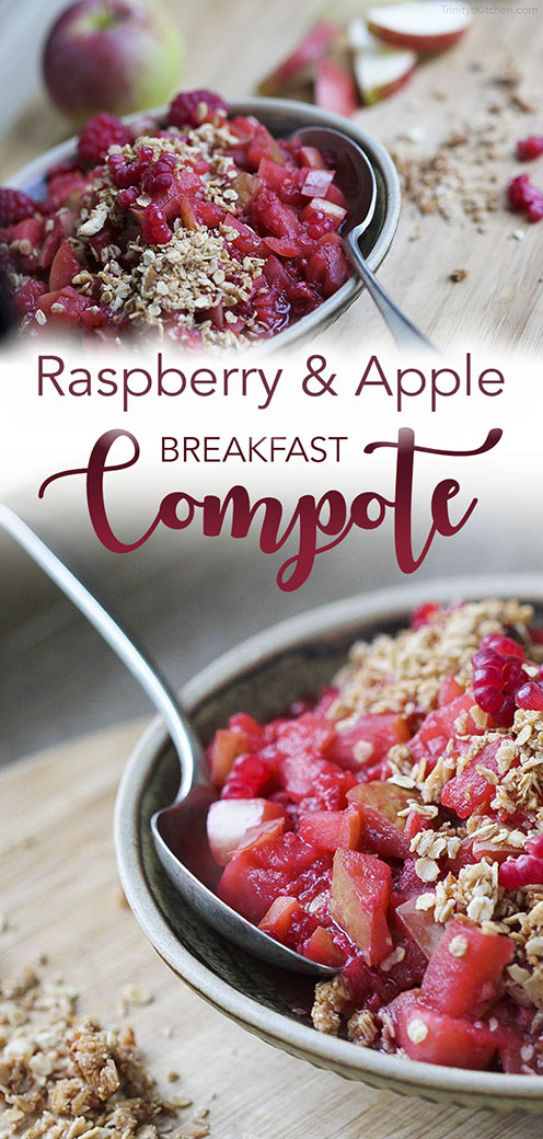 Rasberry & Apple Breakfast Compote by Trinity - vegan and gluten-free