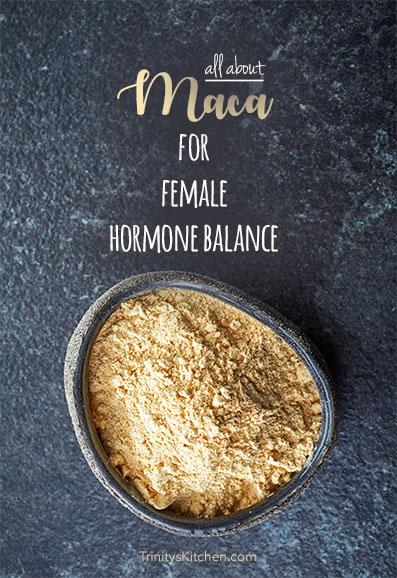 Maca for female hormone balance #maca #naturalremedies