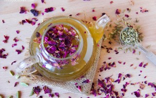Homemade 'Love Yourself Beautiful' Herbal Tea by Trinity rose petals, liquorice, fennel