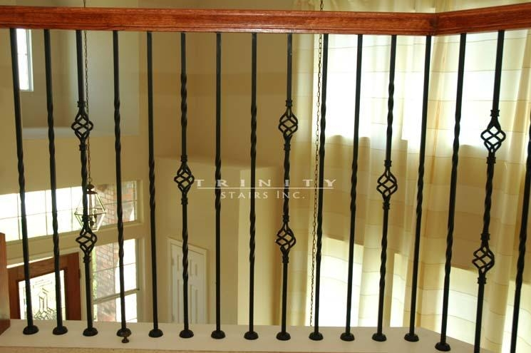 Stair Spindlestrinity Stairs | Wrought Iron Baluster Designs | Rot Iron Staircase | Rod Iron | Metal Rail | Stair Railing | Replacement