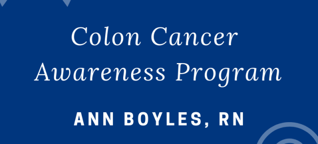 Colon Cancer Awareness Program