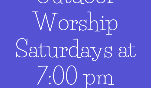 Guidelines for Outdoor Worship