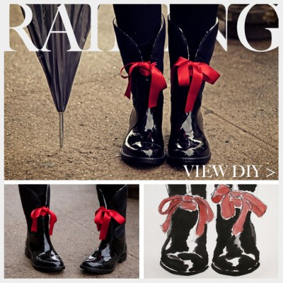 Embellished Rain Boots DIY Feature