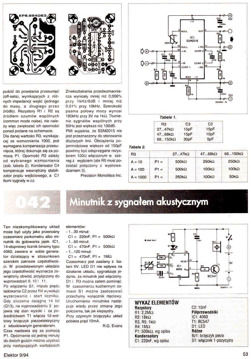 Elektronik Elektor 1994/09