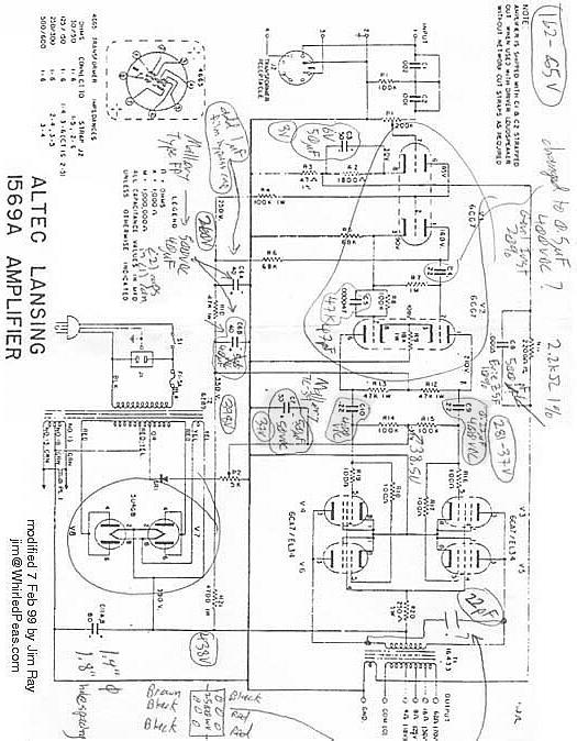 Triode Electronics: Altec Lansing Schematic & Literature